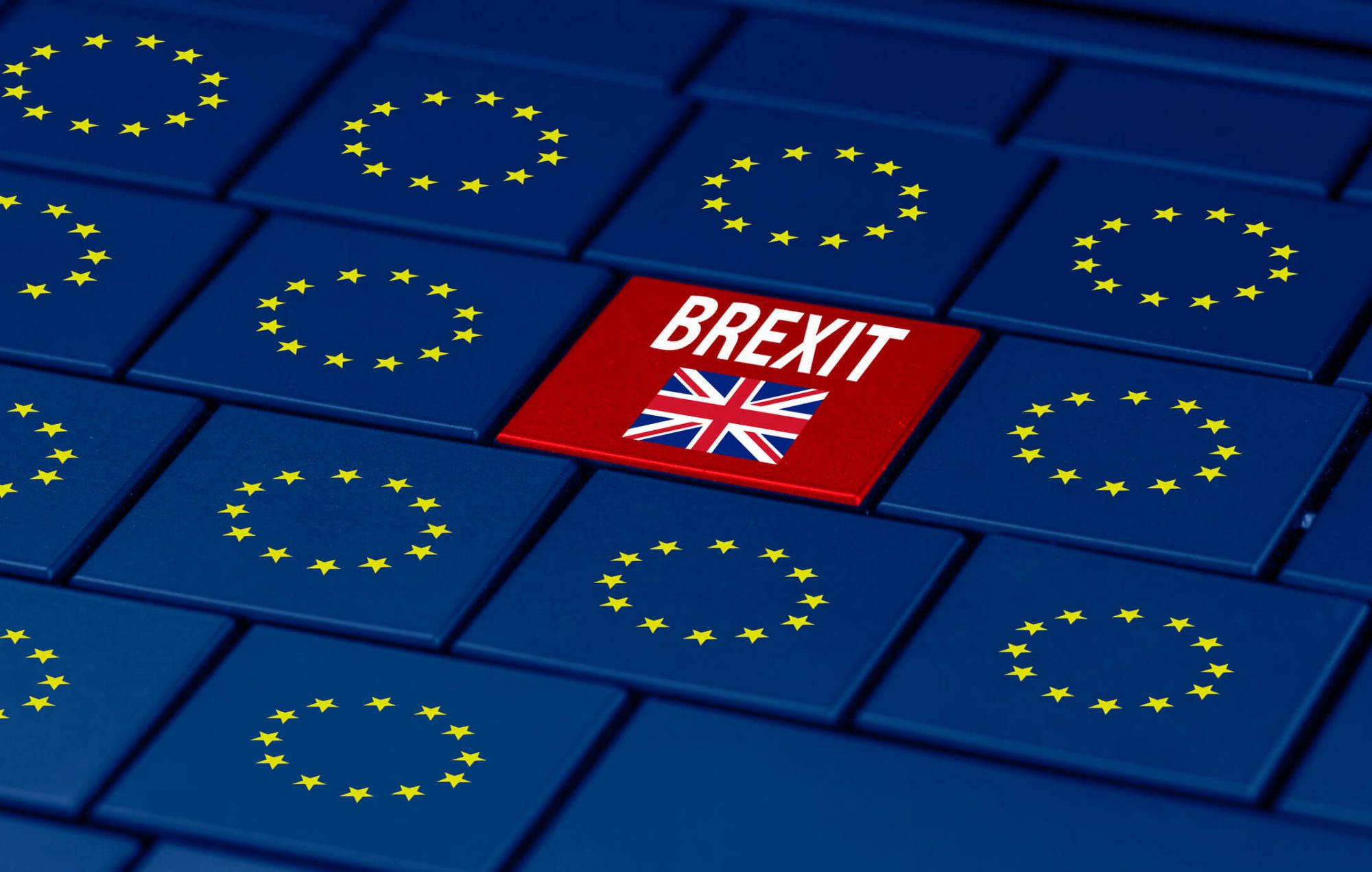 Keyboard showing Brexit image