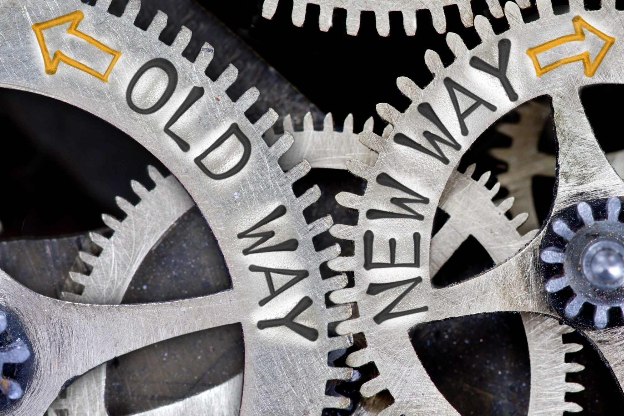 Image showing cogs representing the old way vs the new way of regulation